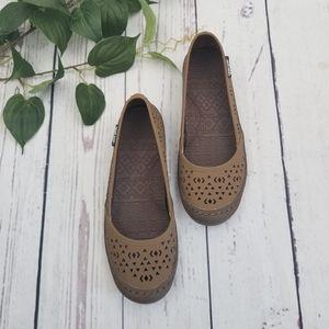 Muk Luk Sport Ballet Flat Slip On Shoes
